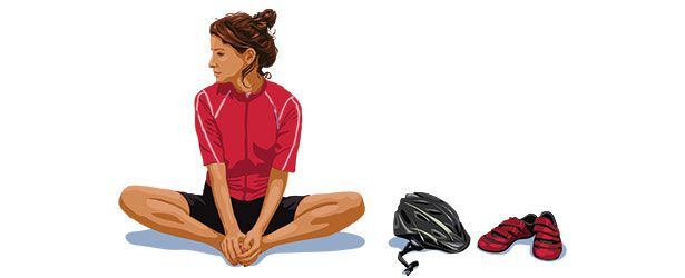 For maximum cycling power—and comfort—there's no place like om. Yoga for cyclists.