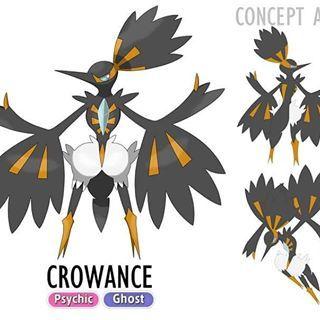 CROWANCE Psychic/Ghost The feather ghost Pokémon. Crowance ...