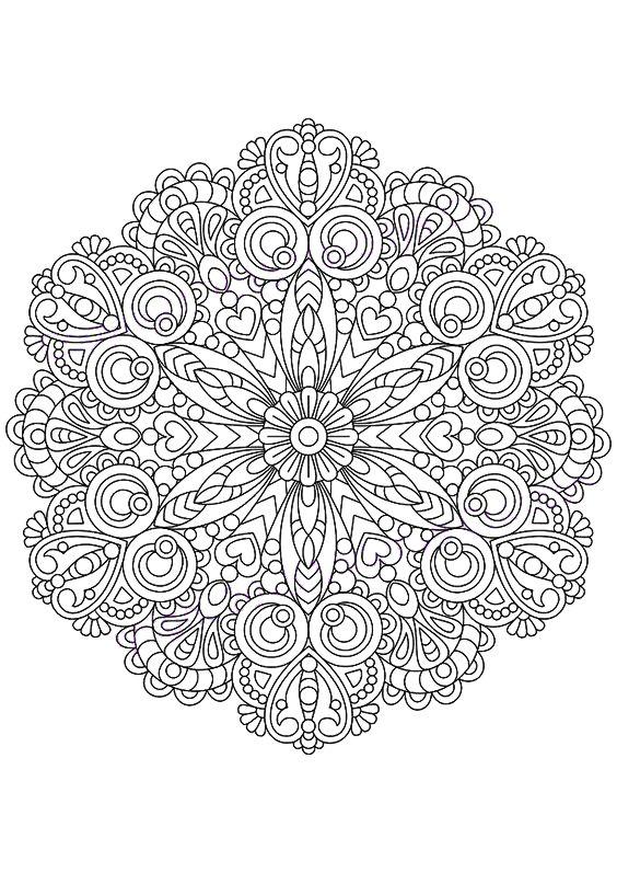 5183 Best Printable Mandalas Images On Pinterest