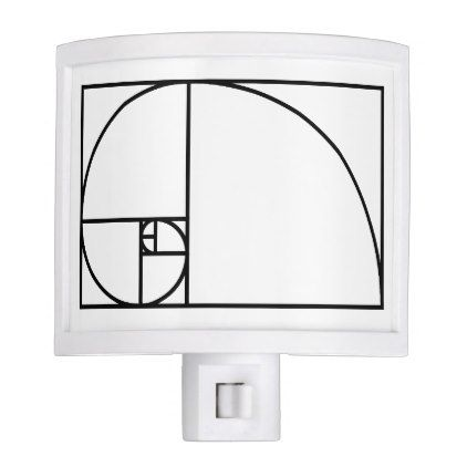 Fibonacci golden ratio - unique mathematical art night light - architect gifts architects business diy unique create your own