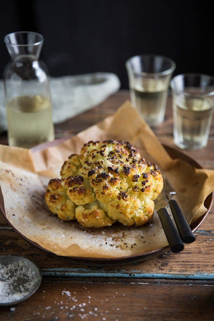 how to make the very best whole roasted cauliflower in the world