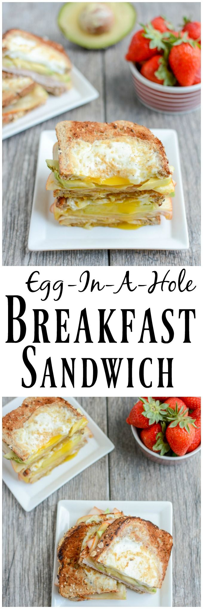 This Egg-In-A-Hole Breakfast Sandwich is a protein-packed, healthy breakfast recipe that's ready in under 5 minutes. The perfect way to start your day! (ad)