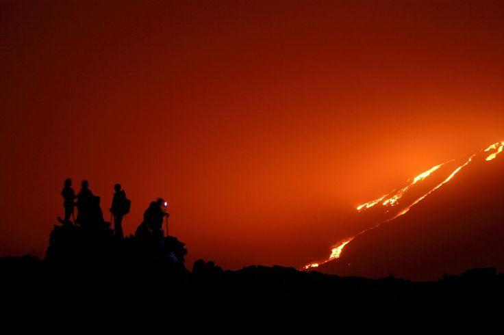 Lava at Pacaya volcano.