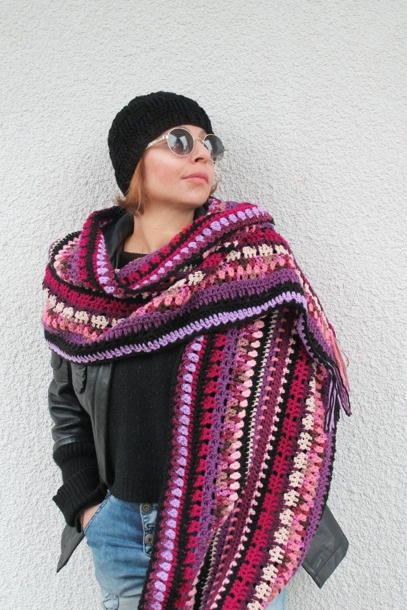 Check out this item in my Etsy shop https://www.etsy.com/listing/492653926/magenta-palette-multy-coloured-scarf