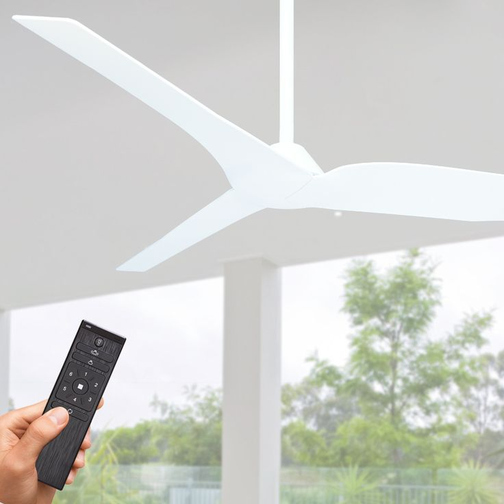 """Designer DC Energy Efficient Fan - Fanco Infinity Ceiling Fan offers an energy efficient DC motor, 54"""" blade span and suitable for undercover outdoor locations (damp rated)."""