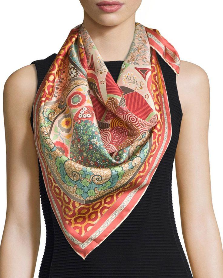 Silk Square Scarf - Hendricks foulard by VIDA VIDA k4r5v33nmC