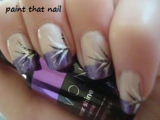 paint that nail: purple french manicure