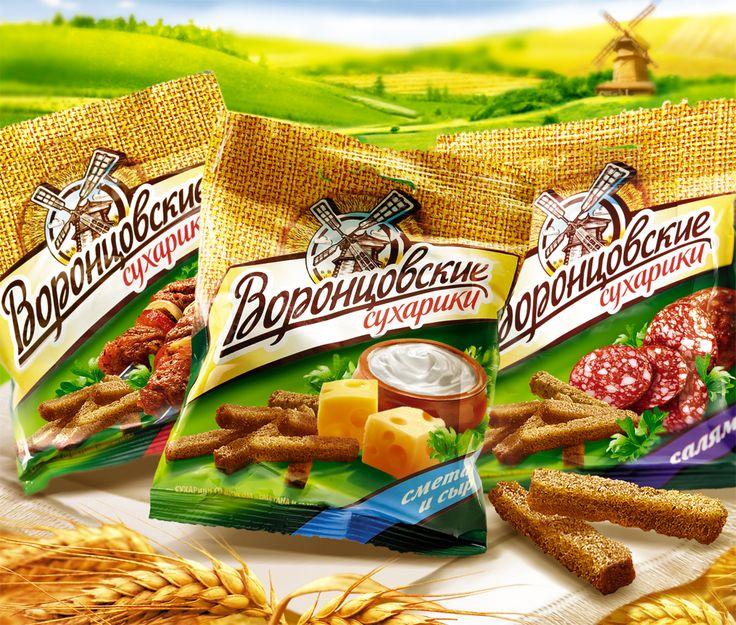 Рестайлинг бренда Воронцовские сухарики
