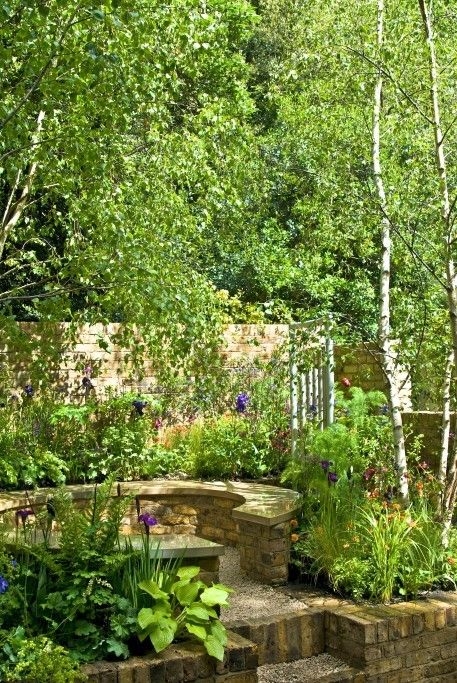 RHS Chelsea Flower Show UK garden designer London garden :BB possible space for far left of your back garden....it would be facing the sun most of the day.…