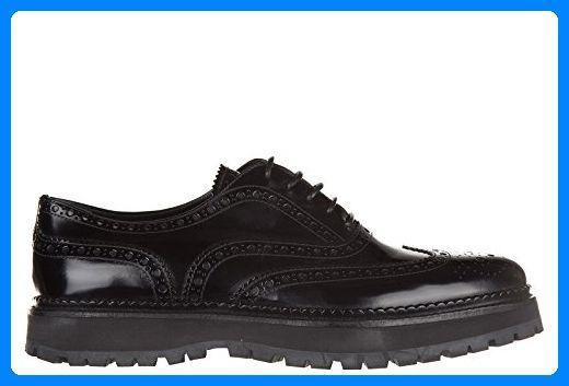Church's Damenschuhe Leder Damen Business Schuhe Schnürschuhe indigo brogue Schwarz EU 38 A74069 - Schnürhalbschuhe für frauen (*Partner-Link)