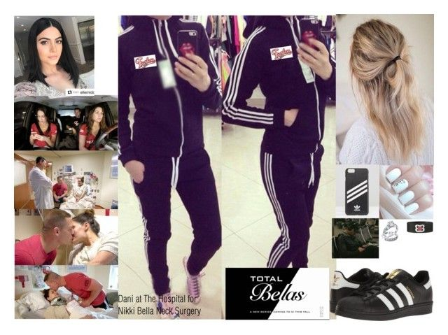 """Dani at The Hospital for Nikki Bella Neck Surgery"" by safia4life ❤ liked on Polyvore featuring adidas Originals and Bling Jewelry"