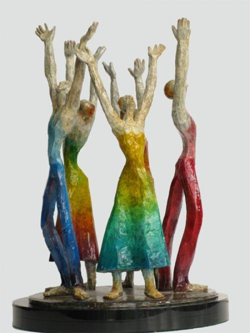 Bronze Human Figurative #sculpture by #sculptor Esther Wertheimer titled: 'Revelation' #art