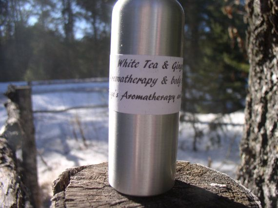 White Tea & Ginger Aromatherapy Spray, light refreshing scent, body spray, cologne, perfume, women, gift basket