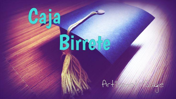 Caja de regalo Birrete//Graduacion-como hacer-DIY [FACIL]
