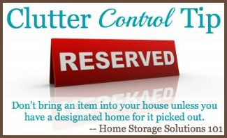 Clutter control tip #3 - can also cut down on impulse buying, and help your wallet too! (More tips at Home Storage Solutions 101)
