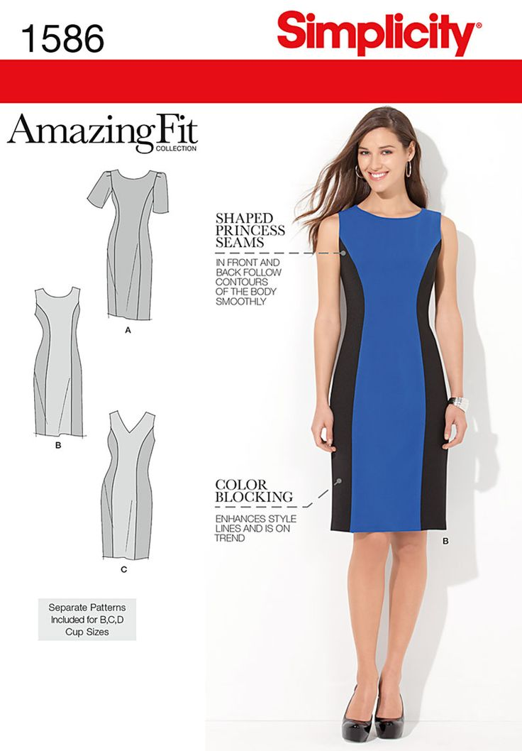 Simplicity Creative Group - Misses' and Plus Size Amazing Fit Dress