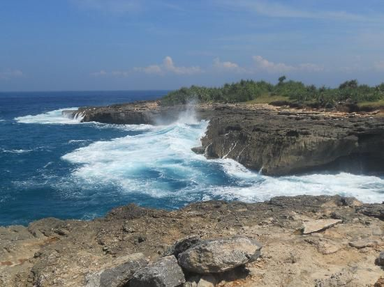 Watch the powerful Indian Ocean crash into the stunning natural rock formations of Devil's Tears, Nusa Lembongan. This beautiful nature site also features a blowhole where you can watch water shoot into the air. Book your dream Balinese break online now at www.dreamdestination-holidays.com for great prices in Bali & worldwide! Holidays, travel, vacation, honeymoon, adventure, Indonesia, Asia, nature