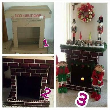 Resultado de imagen para como hacer chimeneas navideñas en carton