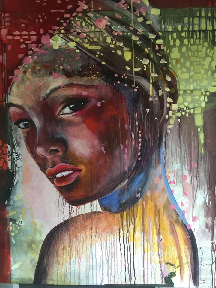 """""""so"""" 100x120 Cm. Acrylic on canvas Made by Naja Duarte"""
