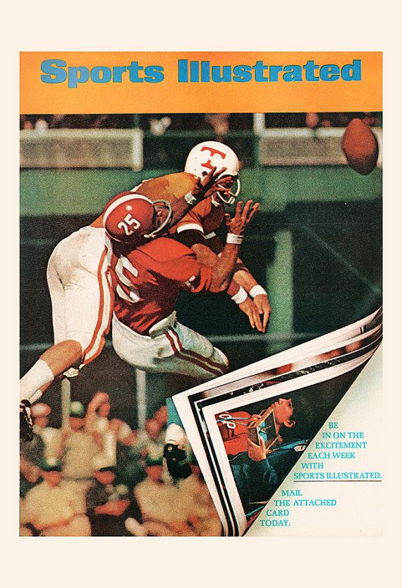 Classic sports Illustrated Football Ad Retro Sports Ad
