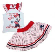 Set 3 Bluza MS-fusta Minnie - rosu