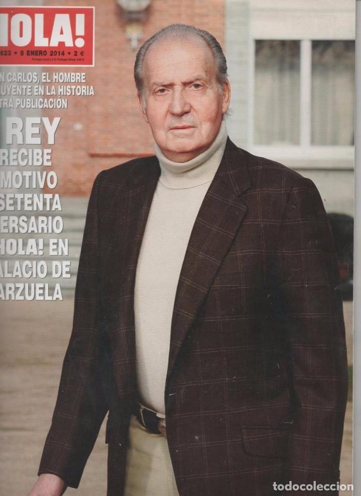 REVISTA HOLA Nº 3623  8 ENERO 2014: JUAN CARLOS I RECIBE A LA REVISTA HOLA EN SU 70 ANIVERSARIO