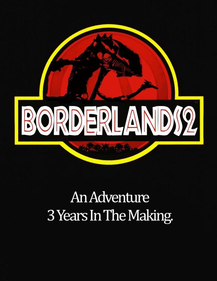 Borderlands 2 jurassic park poster geek art pinterest - Borderlands 3 box art wallpaper ...