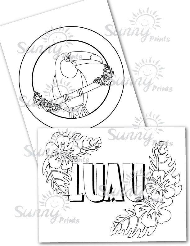 hawaiian themed coloring pages - photo#28
