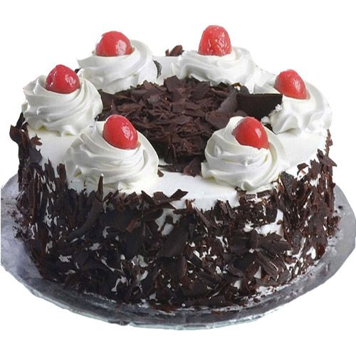 Delicious Black Forest Cake In Round To Gift