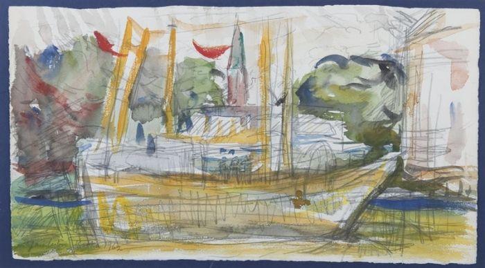 Jan Cybis - Ustka, 1962 r.