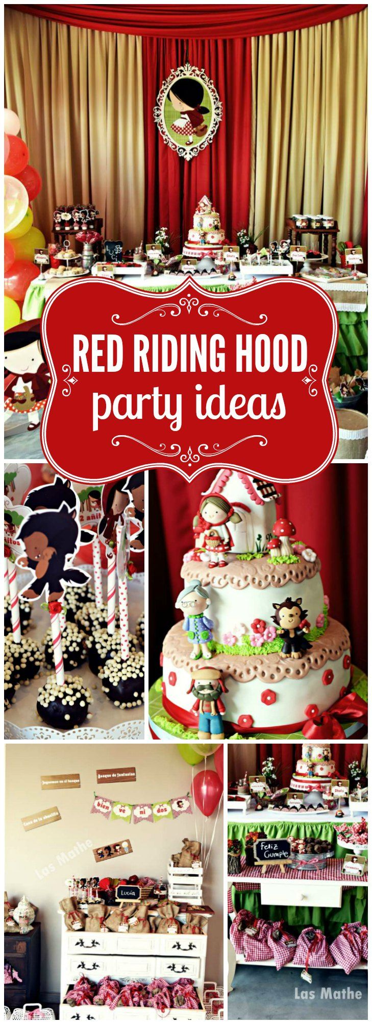 How cute is this Little Red Riding Hood party?! See more party ideas at CatchMyParty.com
