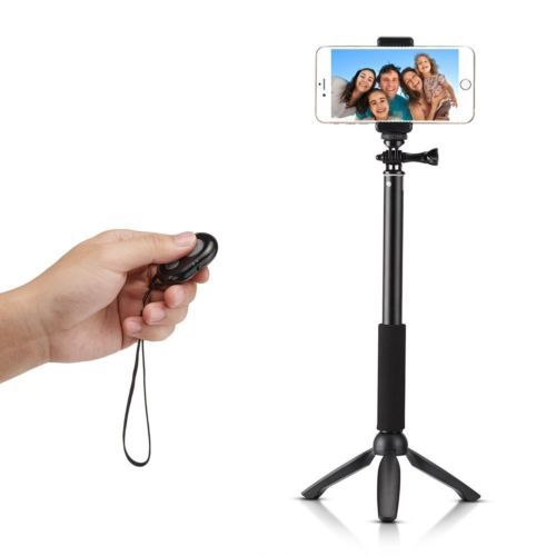 Bluetooth-Selfie-Stick-GoPro-Monopod-With-Tripod-Stand-For-IOS-Android