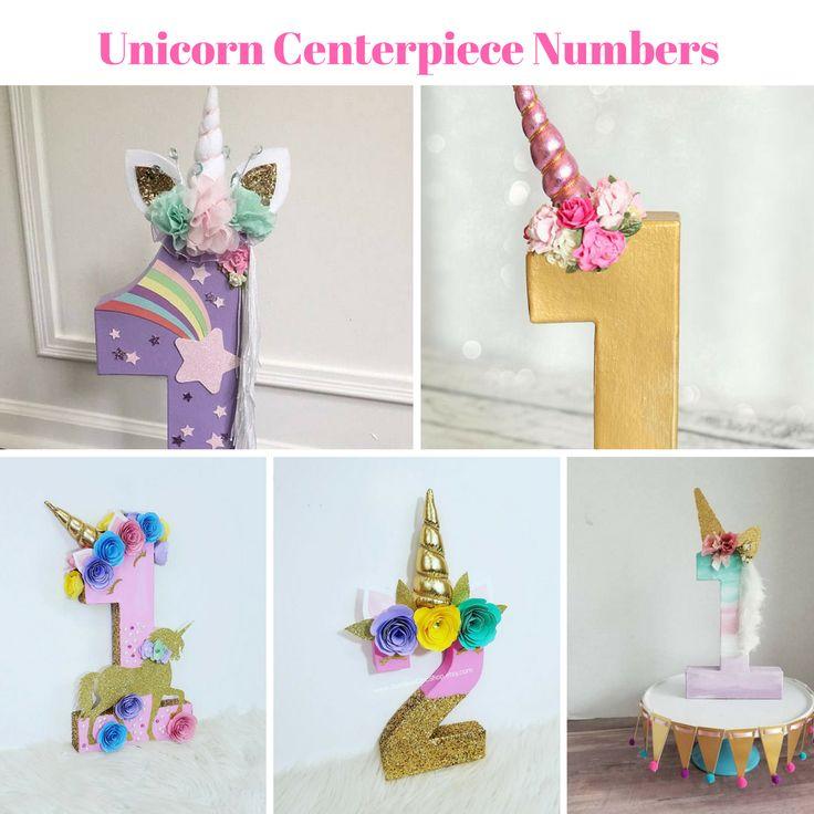 Unicorn Centerpiece Numbers