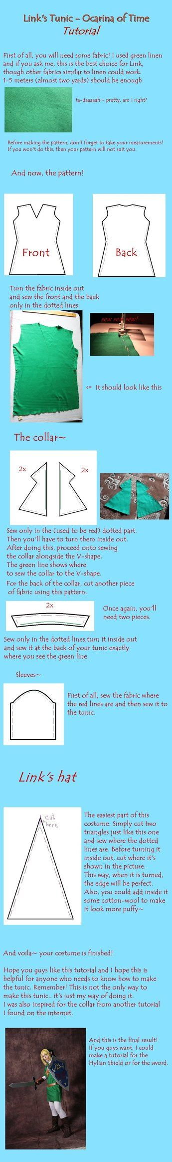 Link tunic tutorial - Ocarina of Time by *mitsuhidezura on deviantART