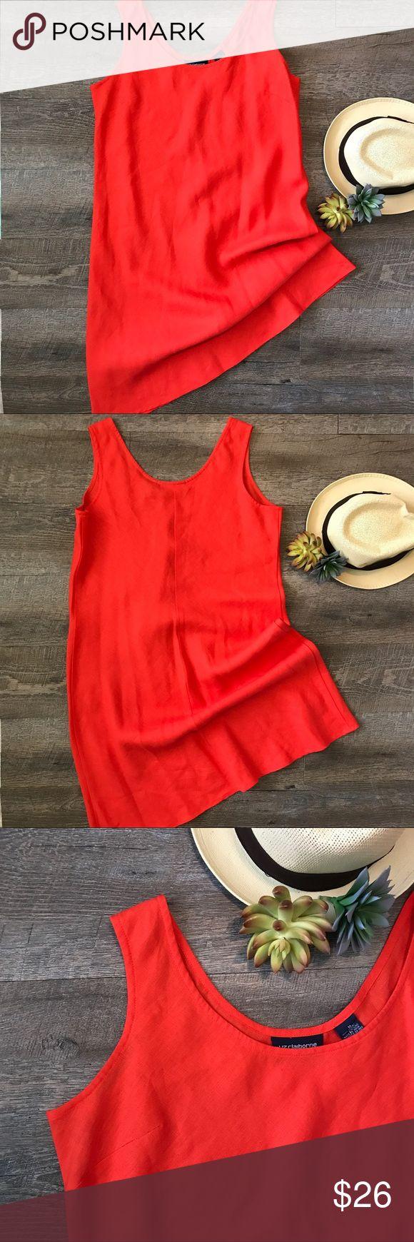Red Liz Claiborne Dress size M Great light weight linen dress by Liz Claiborne! 100% linen. In excellent condition. Size M. See images for measurements. Liz Claiborne Dresses
