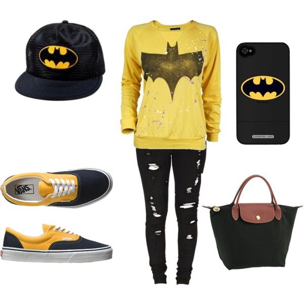 """batman style for back to school"" by justforyou on Polyvore"