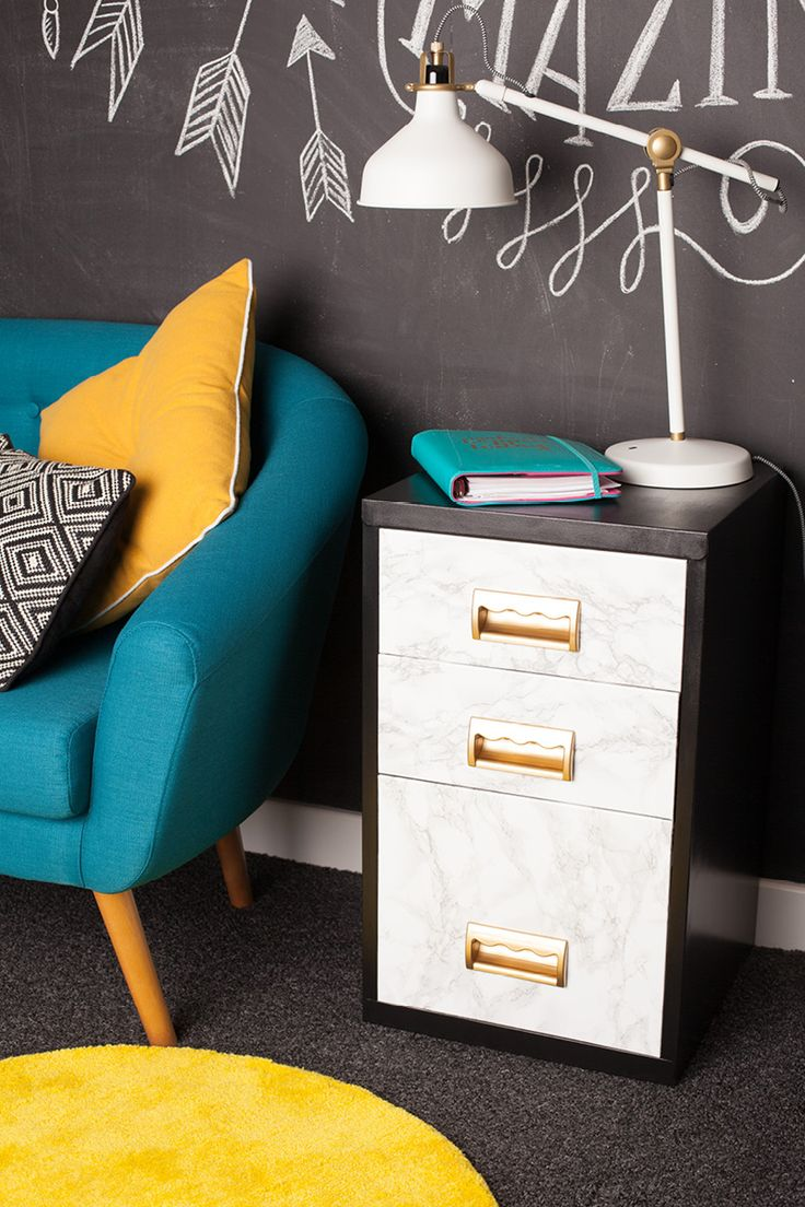 From humdrum to fashion forward, we've put this filing cabinet through a Make It Yours makeover and given it a new lease of life.