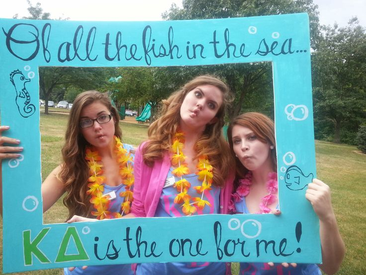 Quot Photobooth Quot Frame From Under The Sea Themed Bid Day