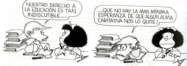 Felipito no le gustan la escuela, y toda la tarea.