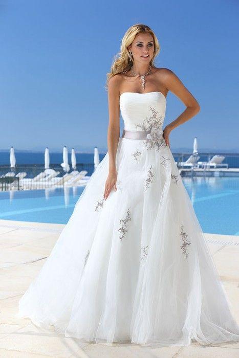 70 best Colored Wedding Dresses images on Pinterest   Short wedding ...