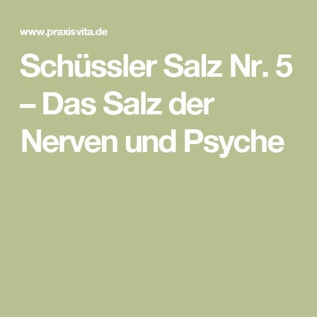 Schüssler Salz Nr. 5 – Das Salz der Nerven und Psyche