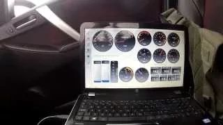 20 km to 120 km acceleration with virtual dashboard