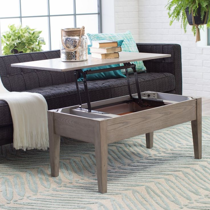 Turner Lift Top Coffee Table Gray Coffee Tables At Hayneedle