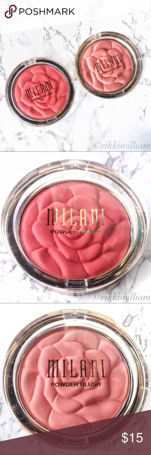 Milani Rose Powder Blushes Milani Rose Powder Blush - Flora Passion & Lady Rouge  A  radiant blush that deserves to be seen, the Milani Rose Powder Blush is gorgeous in the compact and even prettier on cheeks. The soft, natural-finish powder shapes, contours and highlights. With flattering matte and shimmery shades made to complement every skin tone, the Milani Rose Powder Blush is one petal-perfect beauty that you'll reach for again and again. Makeup Blush