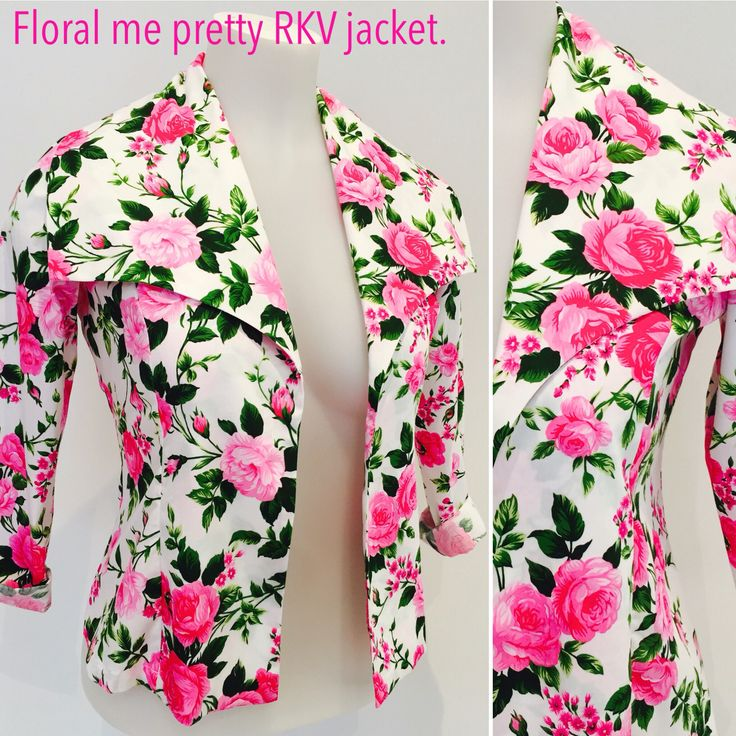 Floral me pretty 100% cotton jacket.   Be event ready @ Key Black.   #NZ MADE