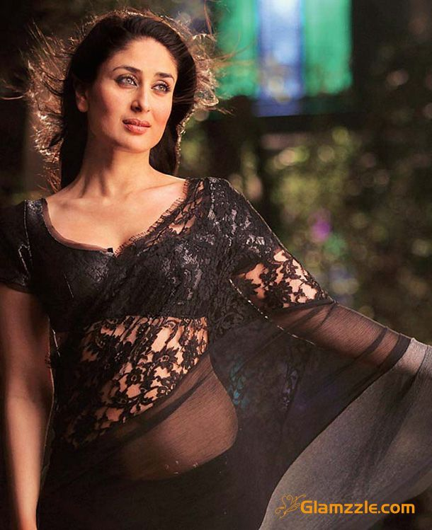 kareena kapoor black saree