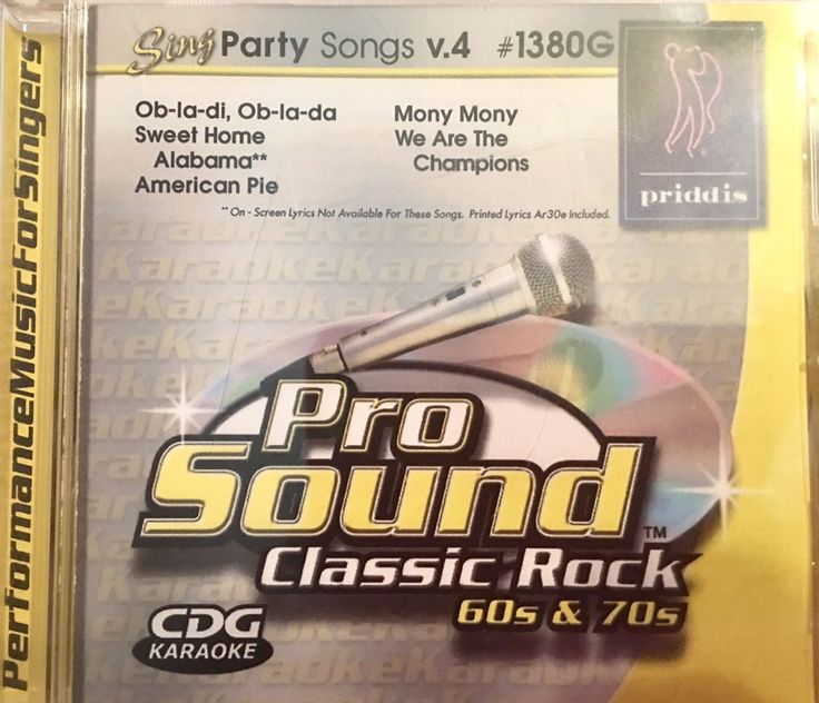 PRIDDIS Sing Party Songs Vol. 4 Classic Rock 60's & 70's KARAOKE CDG #1380G  719698413800 | eBay