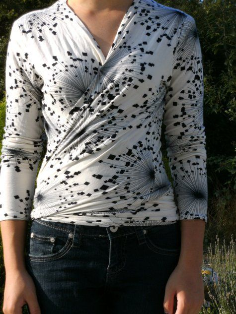 Wrap Shirt from Lydia. Free pattern on Burdastyle. Modify some long sleeve shirts?