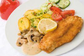 """Schnitzel """"Holzfäller Art"""" RICHTER REZEPTE    Guten Appetit!  www.richter-fleischwaren.de"""