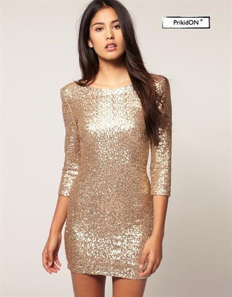 Купить платье с золотыми пайетками